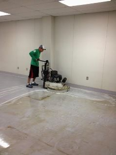 Floor Strip and Waxing With Power Clean Compressed